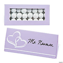 Lilac Wedding Place Card Favor Boxes