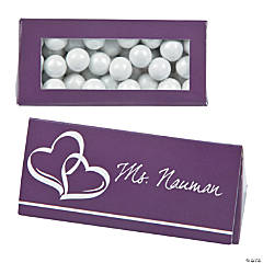 Plum Wedding Place Card Favor Boxes