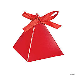 Red Triangle Favor Boxes
