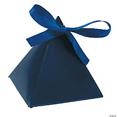 Cardboard Navy Blue Triangle Favor Boxes