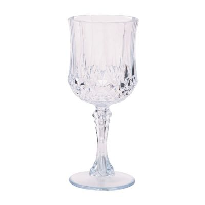 quickview image of clear patterned plastic wine glasses with sku13697902