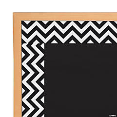Black Chevron Bulletin Board Borders