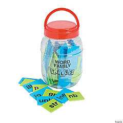 Word Family Tiles in a Jar