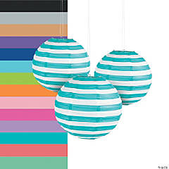 Striped Paper Lanterns