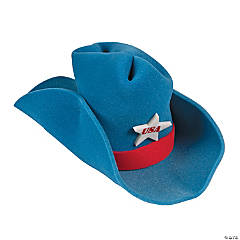 Foam Giant Patriotic Cowboy Hat