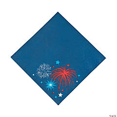 Patriotic Burst Luncheon Napkins