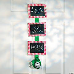 Jingle All the Way Chalkboard Door Sign Project Idea