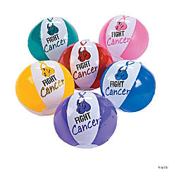 Fight Cancer Mini Beach Balls