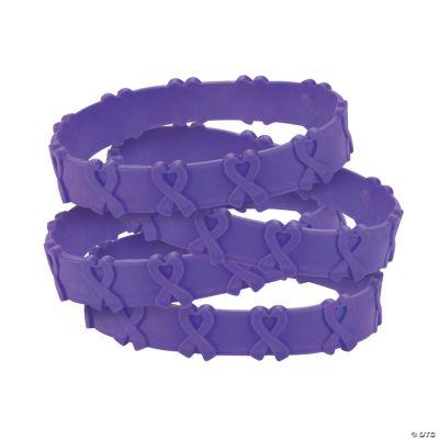 Purple Awareness Ribbon Pop-Out Bracelets