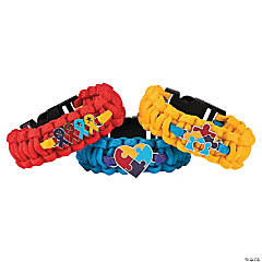 Autism Awareness Ribbon Paracord Bracelets