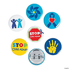 Child Abuse Awareness Mini Buttons