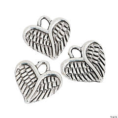 Heart Wing Charms