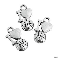 I Love Basketball Charms