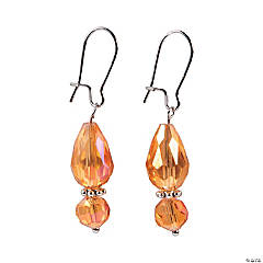 Amber Faceted Teardrop Earrings Craft Kit