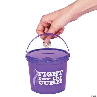 Purple Awareness Ribbon Donation Buckets