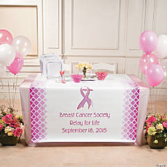 Cancer Awareness Custom Photo Table Runner