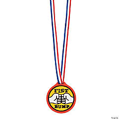 Rubber Fist Bump Award Medals