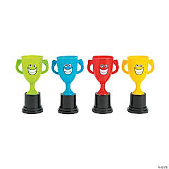 Plastic Smile Face Winner Trophies