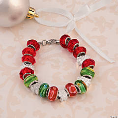 DIY Bright Christmas Bracelet Idea