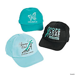 Women's Ovarian Cancer Awareness Ribbon Baseball Hats