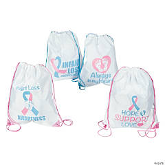 Infant Loss Awareness Drawstring Backpacks