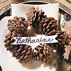 Pinecone Christmas Place Card Holders Idea