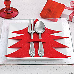 Christmas Tree Silverware Holder Idea