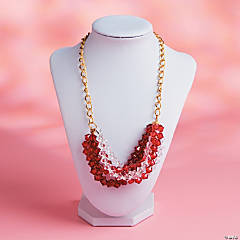 Valentine Beaded Twist Necklace Idea