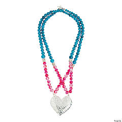 Heart Pendant Beaded Necklace Idea