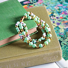 Beaded Pink & Green Spring Bracelet Idea