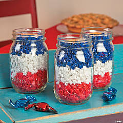 Patriotic Mason Jars Project Idea