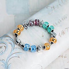 Whimsical Large Hole Beaded Bracelet