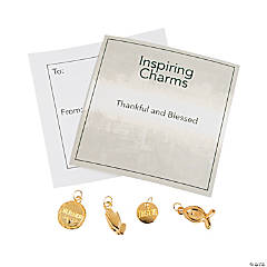 Inspiring Goldtone Blessed Charms with Inspirational Tag