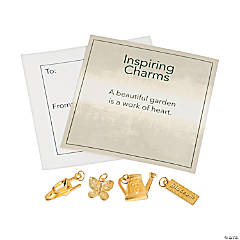 Inspiring Garden Goldtone Charms with Inspirational Tag