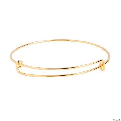Inspiring Charms Expandable Goldtone Bangle Bracelets