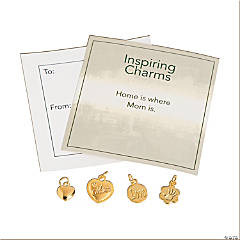 Inspiring Goldtone Mom Charms with Inspirational Tag