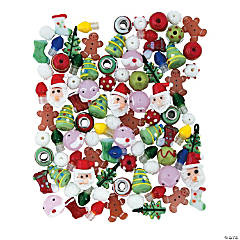 Christmas Lampwork Beads Assortment