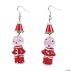 DIY Santa Earrings Idea