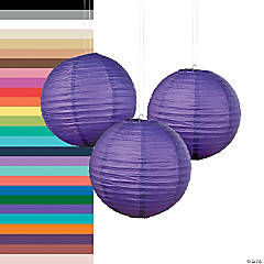 Solid Color Paper Lanterns