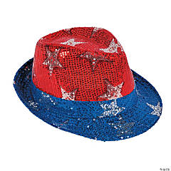 Patriotic Sequin Fedora Hat