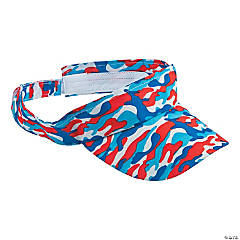 Red, White & Blue Camouflage Visors