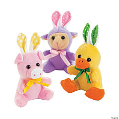 Plush Easter Characters with Bunny Ears