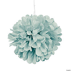Lime Green Tissue Paper Pom-Pom Decorations