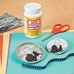 Photo Mason Jar Lid Magnet Idea