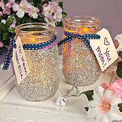 Glitter Mason Jars Projects Idea