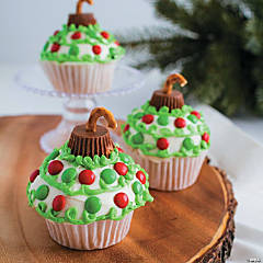Christmas Ornament Cupcakes Recipe