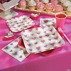 Mint & Pink Valentine Hearts Party Supplies