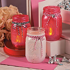 Valentine Decor Mason Jars  Idea