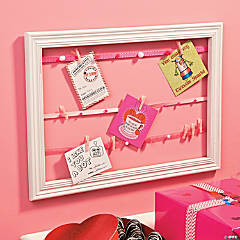 Valentine's Day Card Display Frame Idea