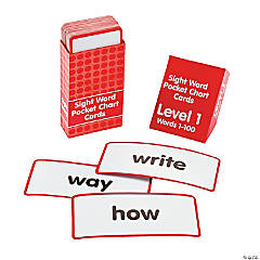 Sight Words Pocket Chart Cards - Level 1